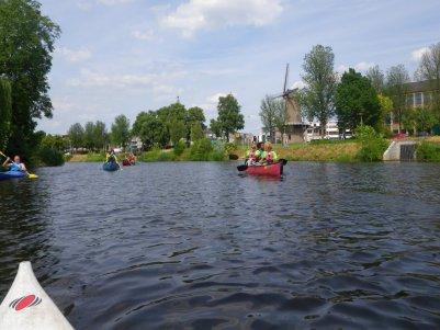 Kanotochten op de rivier