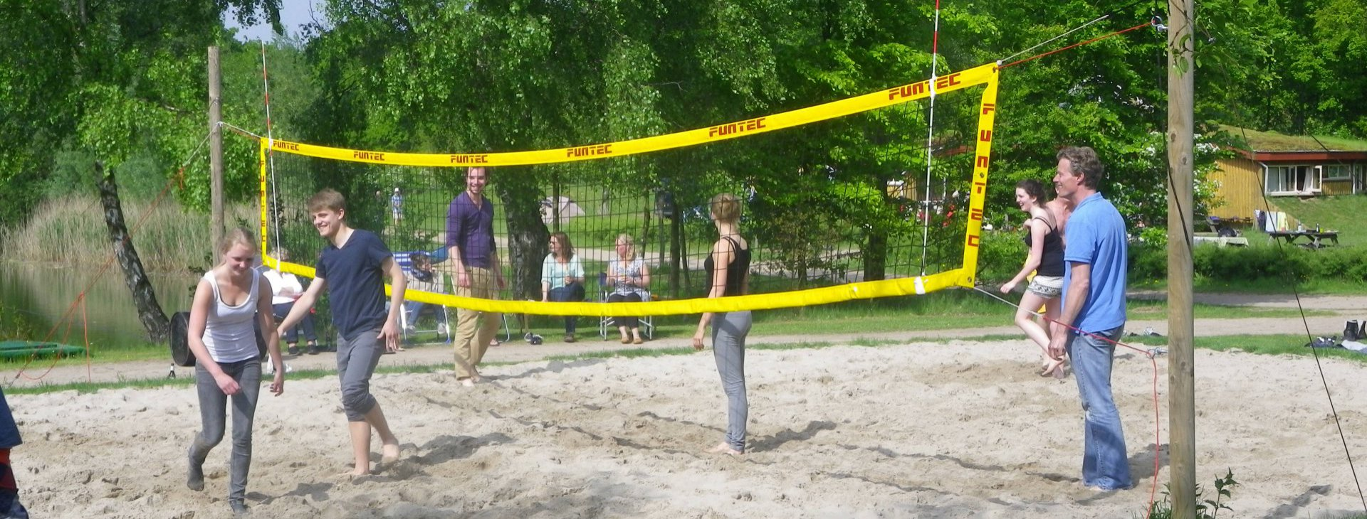 Beachvolleybal familie